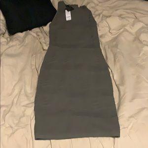 Diana multi texture stripe dress robe ray